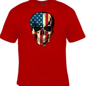 American Skull Red