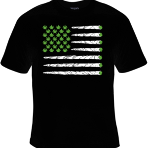 Marijuana Flag T-Shirt Black